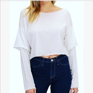 NWT Basic offWhite Shirt Cotton with Sleeve